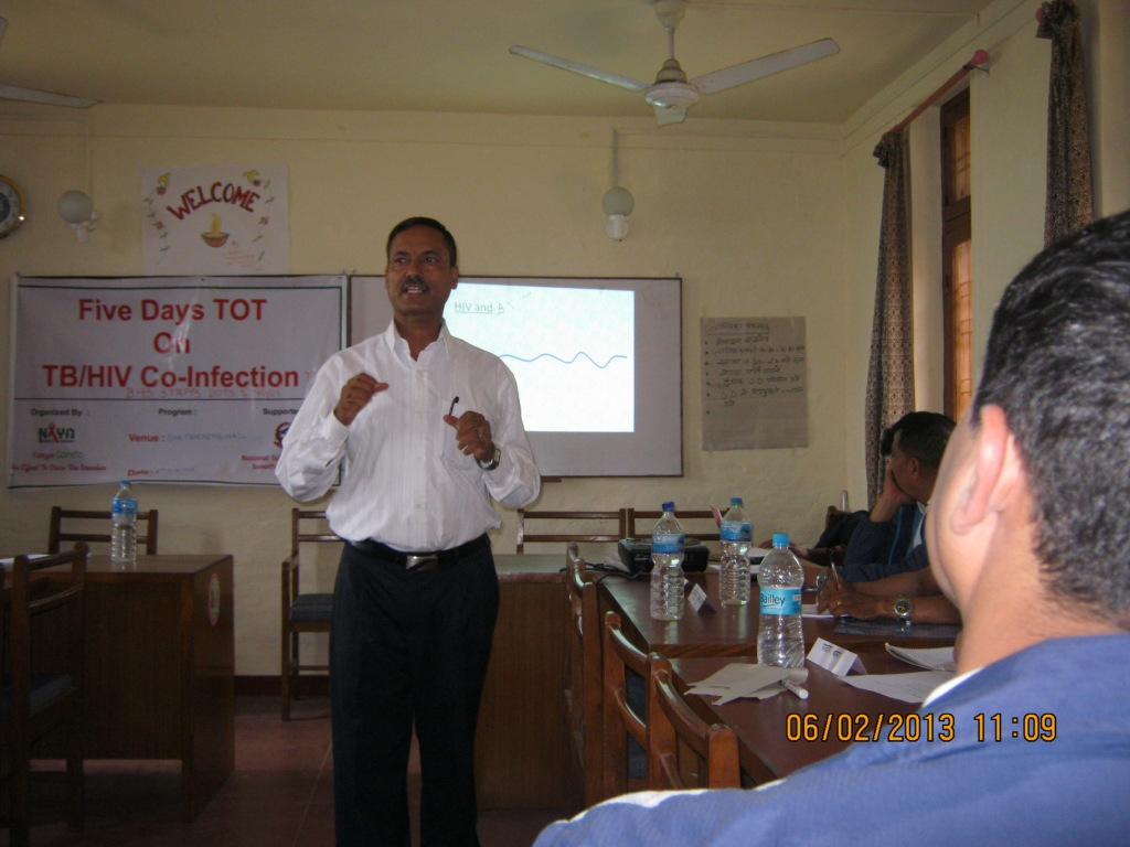5 Days TB/HIV Training to BHS staff (DOTS and VCT centers) and NGOs